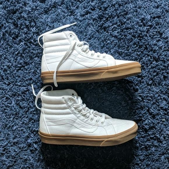 vans sk8 hi white gum